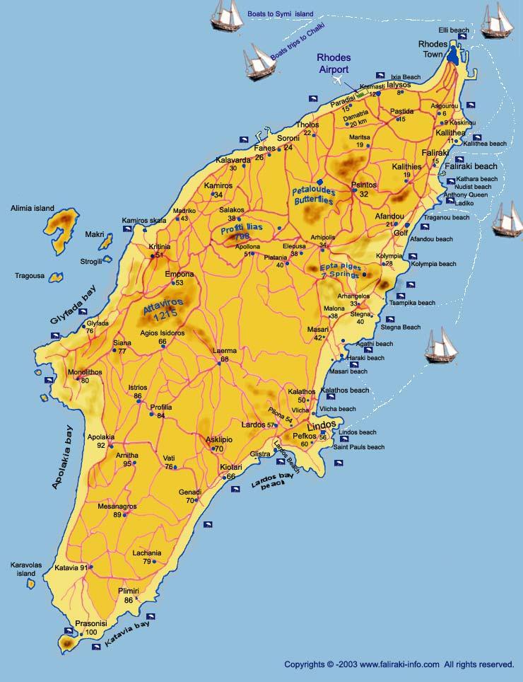 Strand Karte Rhodos.Rhodos Faliraki Karte Hanzeontwerpfabriek